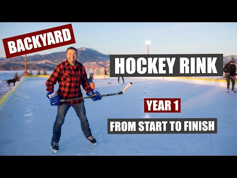 Backyard Hockey Rink Build - From Start To Finish