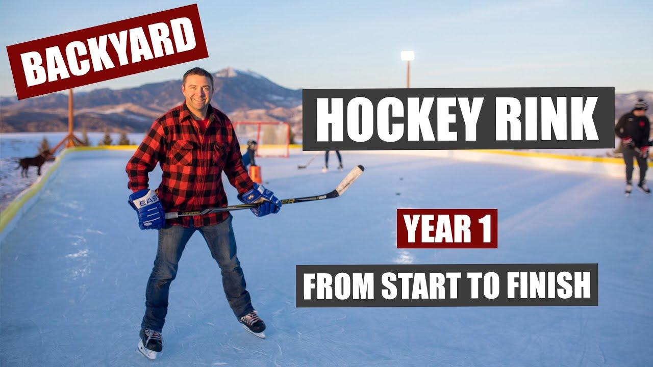 Backyard Hockey Rink Build From Start To Finish Youtube