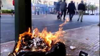 Анархисты устроили беспорядки во время митинга в Афинах