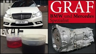 Mercedes Automatikgetriebe Getriebespülung 7G Ölwechsel W204 W212 W211 Getriebeöl ML GLK W221 E C S