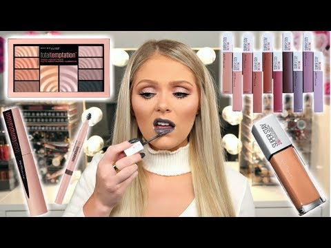 NEW DRUGSTORE MAKEUP 2018 | MAYBELLINE FULL FACE FIRST IMPRESSIONS