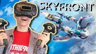 THE NEXT LEVEL ECHO ARENA?!  | Skyfront VR (HTC Vive Gameplay) ft. RowdyGuy & Virtual Reality Oasis
