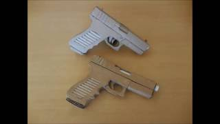 How to make my cardboard Glock 18