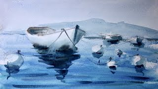 Boats and reflections. For beginners only