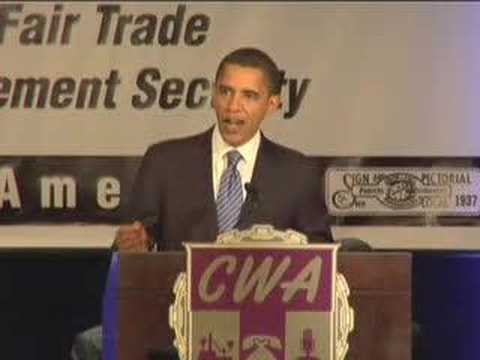 Barack Obama at the CWA Legislative Conference