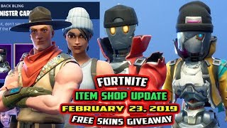 FORTNITE ITEM SHOP UPDATE *NEW* REVOLT AND REBEL SKIN RECON SPECIALIST - [FEBRUARY 23, 2019]