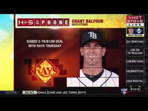 Grant Balfour on Hot Stove