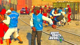 GTA 5 ONLINE - BLOODS VS CRIPS WHO WILL WIN? PART 3
