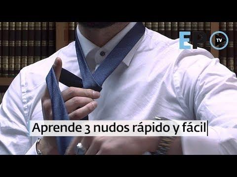 Te enseñamos a hacer tres nudos de corbata de forma rápida y sencilla