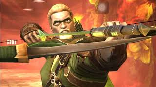 Injustice Mobile Insurgency Green Arrow Super Moves and Powers No Commentary