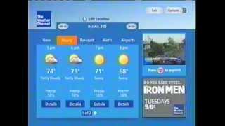 Verizon FiOS local weather screen from The Weather Channel