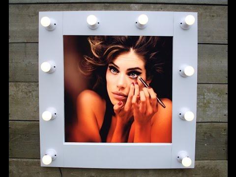 How To Make A Hollywood Style Illuminated Vanity Mirror