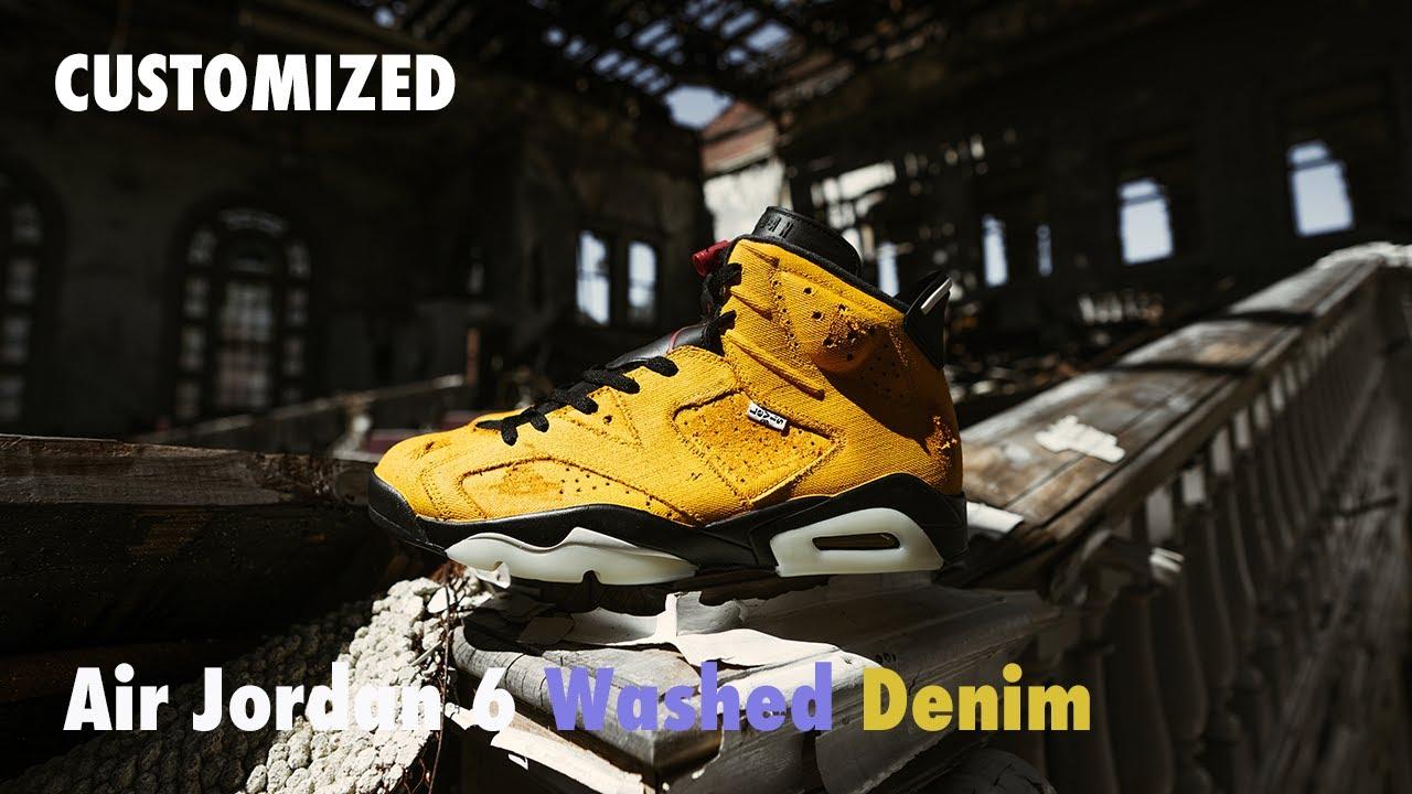 Customized | Air Jordan 6 Washed Denim