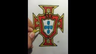 Drawing portuguese football logo