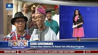 News@10: Oyegun Says Absence Of Buhari Not Affecting Governance 26/02/17 Pt 1