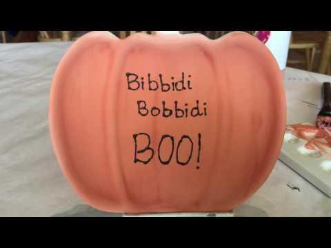BIBBIDI BOBBIDI BOO Pumpkin Painting Party At Color Me Mine Tampa