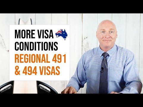 Australia's Visa Condition 8580 & 8578 For 491 & 494 Visa Holders