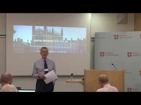 Frank Cranmer: Doctrinal difficulties in the law of conscience