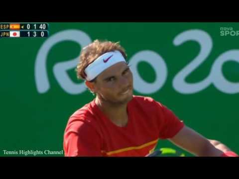 Rafael Nadal vs Kei Nishikori Olimpics Games 2016 HIGHLIGHTS HD   YouTube