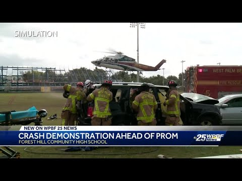 Forest Hill High School students receive realistic crash course in driving responsibly