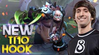 Dendi Pudge with EPIC NEW TI10 IMMORTAL Hook - 7.27 Patch Dota 2