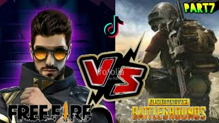 Pubg vs free fire tik tik funny videos series/#part7