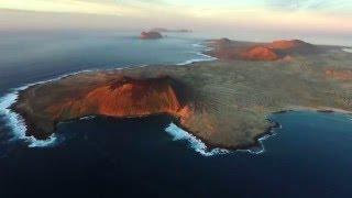 A vista de pájaro - La isla de La Graciosa (Lanzarote, Islas Canarias)