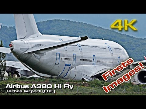 Airbus A380 Hifly [4K] Firsts Images (Tarbes)