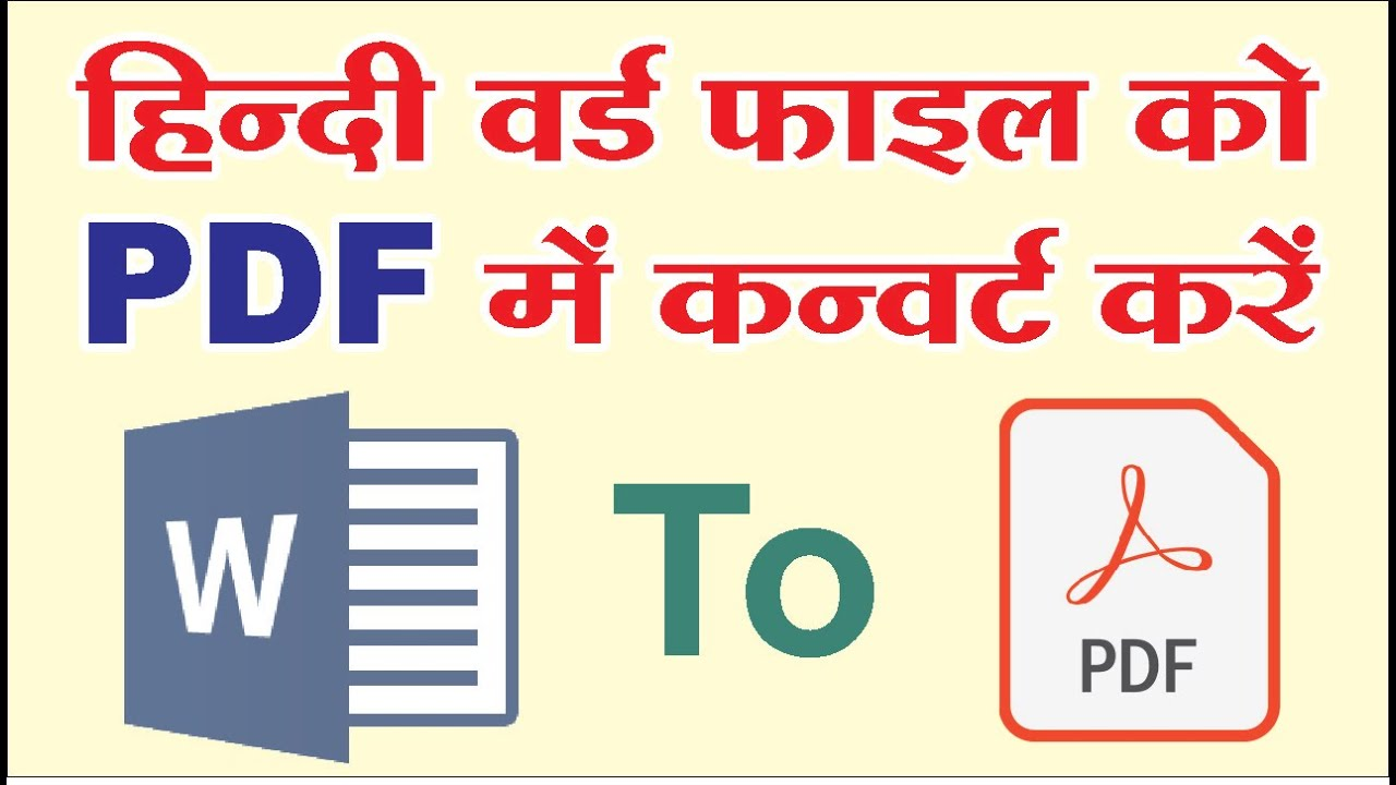 How to Convert Hindi file into PDF without any missing font