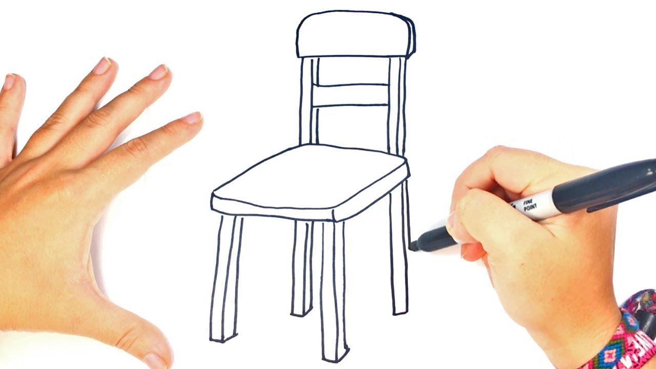 C mo dibujar un silla paso a paso dibujo f cil de silla for Silla para dibujar