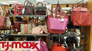TJ MAXX HANDBAGS PURSE SHOP WITH ME WALK THROUGH 2018