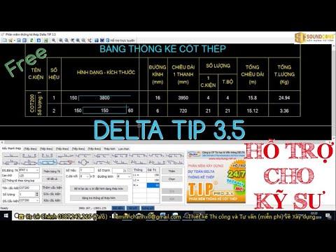 Tải Và Cài Đặt Phần Mềm DELTA TIP 3.5 Cách Sử Dụng Khi Thống Kê Cốt Thép Xây Dựng | Steel statistics