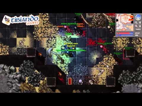 Tibia: Medusa Shield Quest - Necromancer Quest en Español