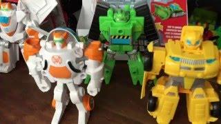 Трансформеры Боты Спасатели Transformers Rescue Bots Toys Heatwave Blades Chase Boulder Bumblebee
