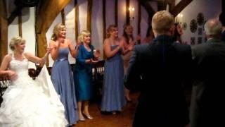 Traditional English Wedding barn dance