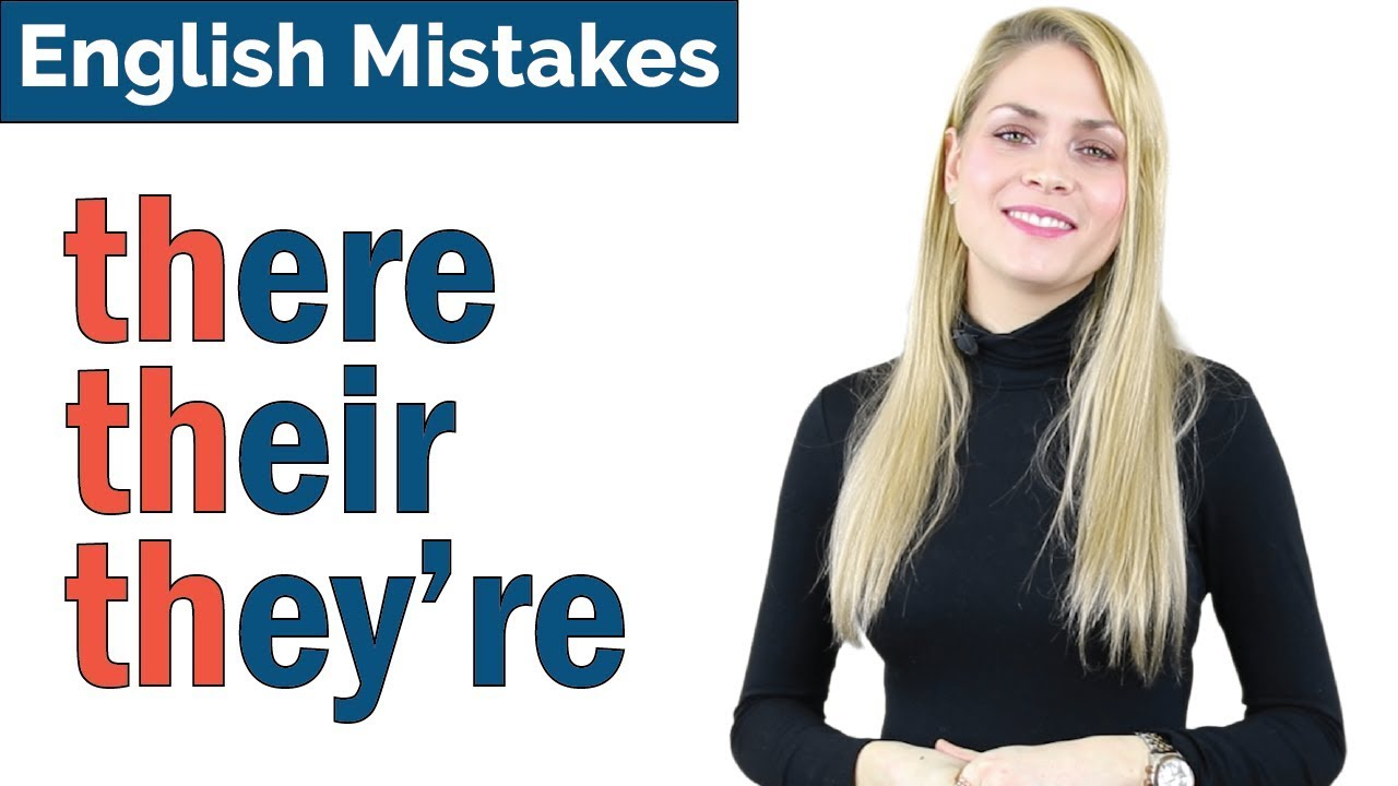Download THERE THEIR THEY'RE   Common English Spelling + Pronunciation Mistakes