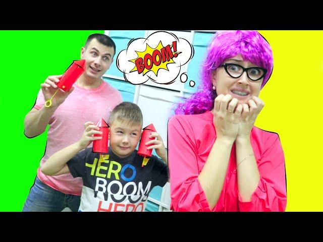 ЧТО Придумали Рома и Хелпик с Boom City Racers? Странная Учительница МАТЕМАТИКИ в Шоке!