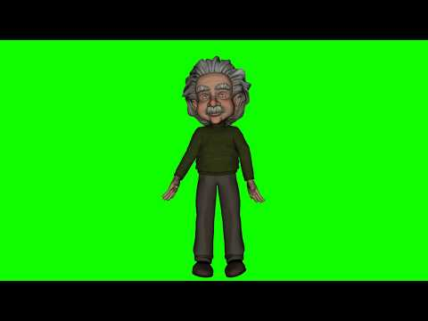 FREE HD Green Screen CARTOON SCIENTIST