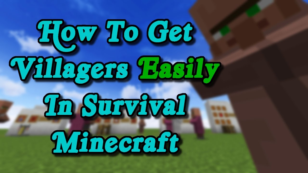 Minecraft Tutorial - How To EASILY Get Villagers In Your Survival World!