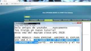 configurar router cisco dpc 3928 de claro
