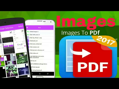 How to convert images to PDF files on Android 2020