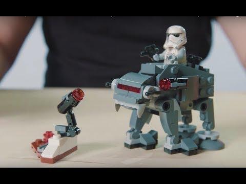 First Order Ski Speeder vs. First Order Walker Microfighters - LEGO Star Wars - 75195 Designer Video
