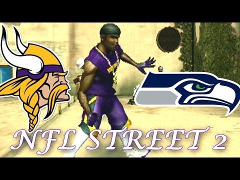 RANDY MOSS VS JERRY RICE - NFL STREET 2 - VIKINGS VS SEAHAWKS PLAYOFF GAME