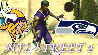 RANDY MOSS VS JERRY RICE - NFL STREET 2 - VIKINGS VS SEAHAWKS PLAYOFF GAME