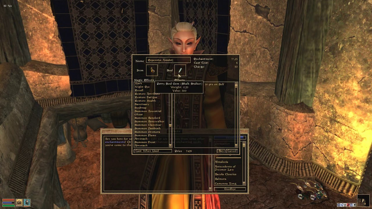 Morrowind, 120 mods -- 441 Tomb of Horrors  More preparation?