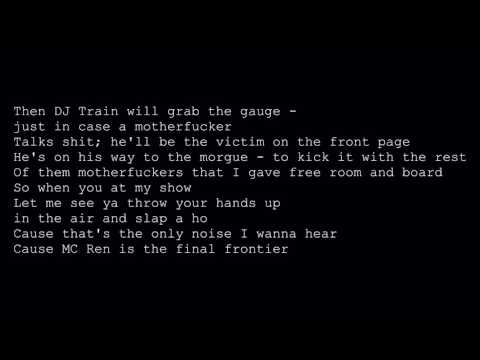MC Ren - Final Frontier (lyrics)
