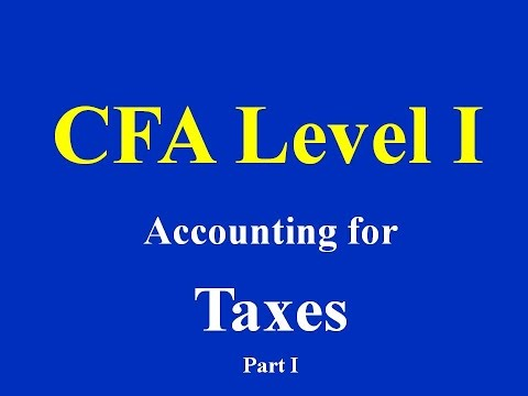 CFA Level I- Accounting for Taxes- Part I
