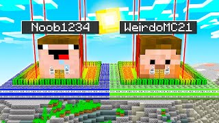 I Found Noob1234 And WeirdoMC21's DOUBLE Impossible Minecraft Home!