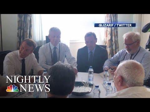 Iran's Zarif Surprises White House At G-7 Summit | NBC Nightly News