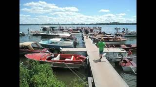 A perfect Saturday to see a gathering of old boats, gotta love the colors and the trim!